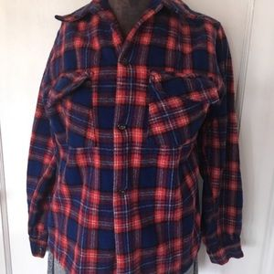 Vintage wool shirt. Grunge. Flannel.